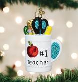 Old World Christmas Best Teacher Mug Ornament