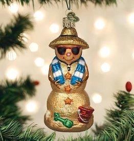 Old World Christmas Sand Snowman Ornament