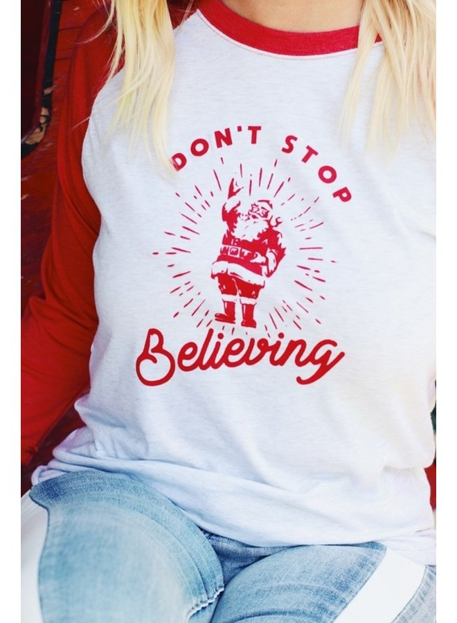 Don't Stop Believing Raglan