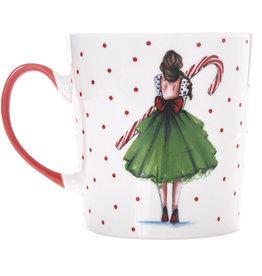 Graphique Candy Cane Girl Mug