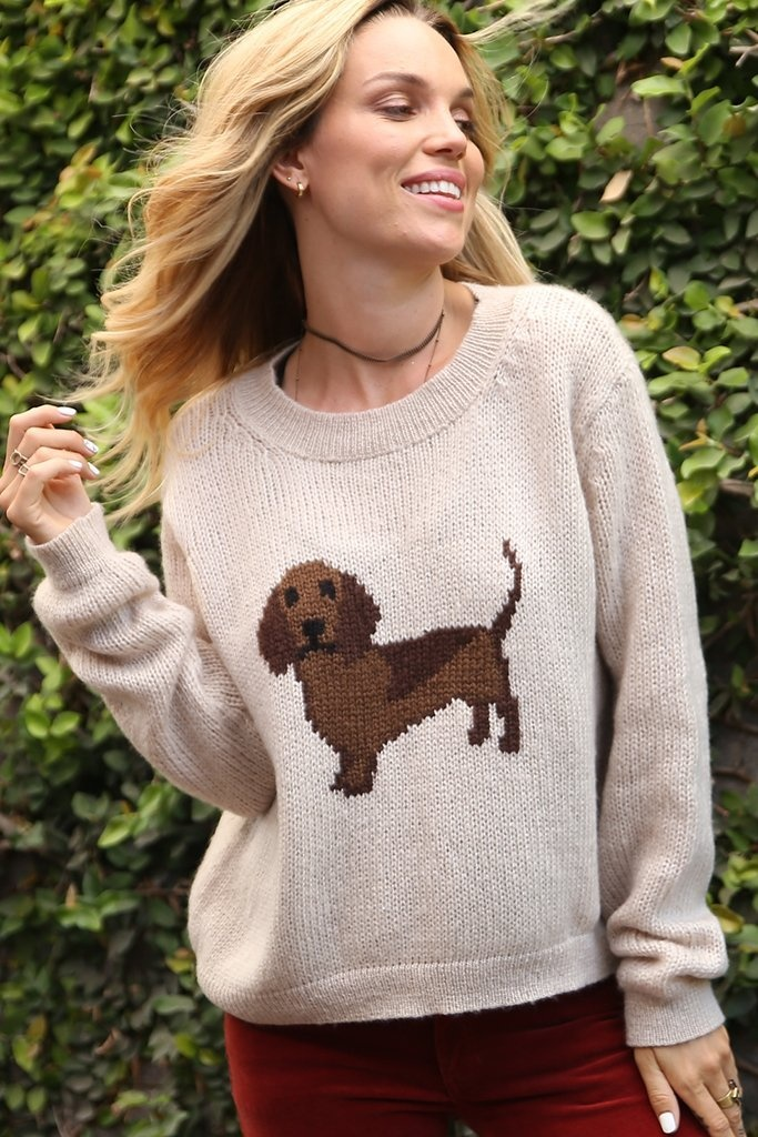 Wooden Ships Hot Dog Pullover Sweater
