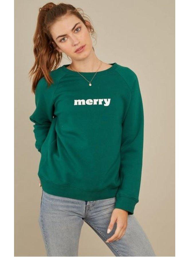 Merry Sweatshirt- Green