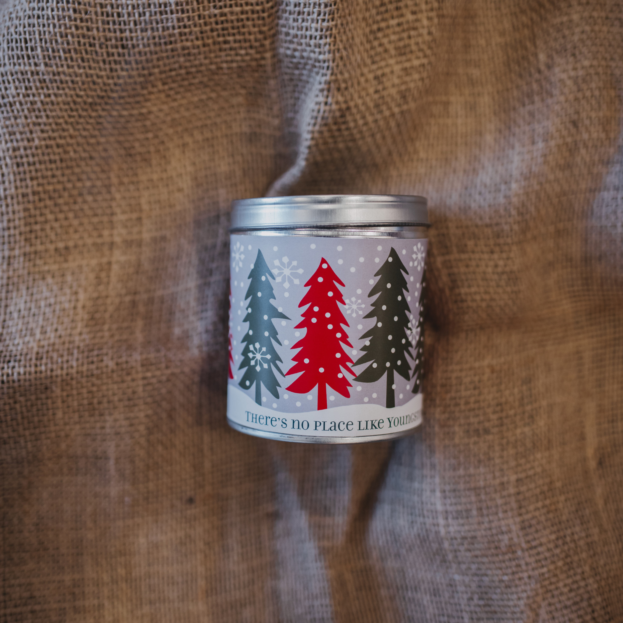 Aunt Sadie's Youngstown Snowy Trees Candle