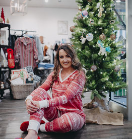 143 Story Winter Print Red PJ Set