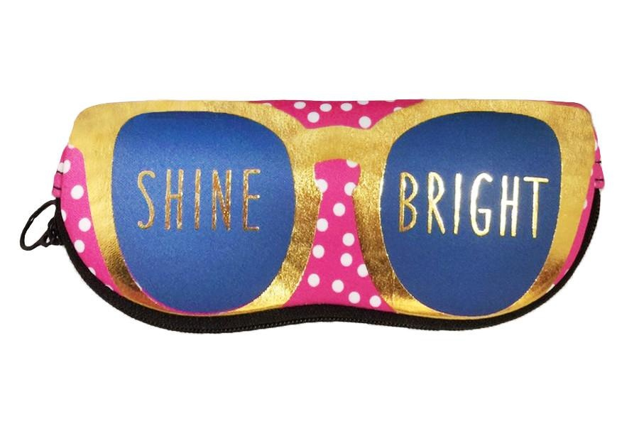 Ann Page Zipper Sunglasses Pouch- Shine Bright