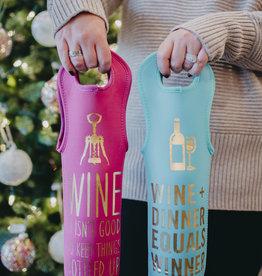 Ann Page Wine Plus Dinner Equals Winner Wine Bag