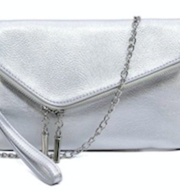 Pjee Handbags Ava Zip Around 3in1 Wristlet-Silver