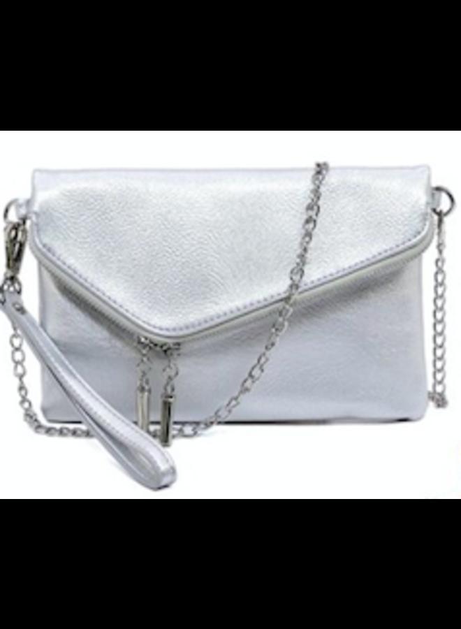 Ava Zip Around 3in1 Wristlet-Silver