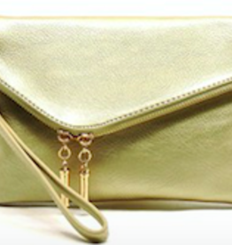 Pjee Handbags Ava Zip Around 3in1 Wristlet-Gold