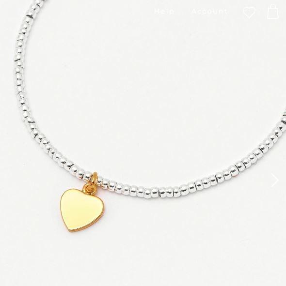 Estella Bartlett Louise Bracelet Gold Heart