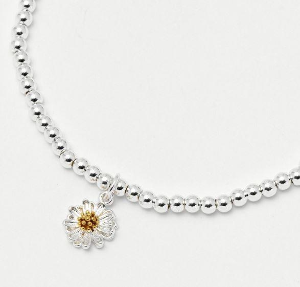 Estella Bartlett Sienna Wildflower Silver Bracelet