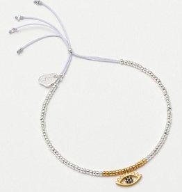 Estella Bartlett Louise Bracelet Silver Eye Charm