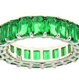Maya J Green Emerald CZ Eternity Ring