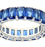 Maya J Blue Sapphire CZ Eternity Ring