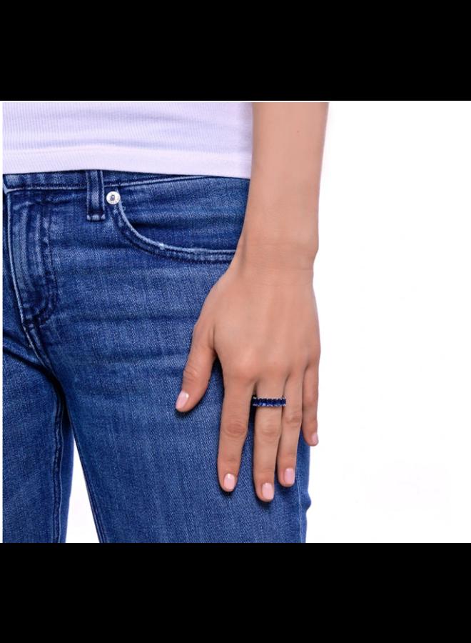 Blue Sapphire CZ Eternity Ring