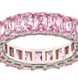 Maya J Pink Sapphire CZ Eternity Ring