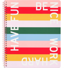 ban.do Rough Draft Large Notebook - Have Fun Be Nice