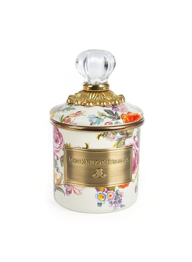 Flower Market Enamel Canister-White-Mini