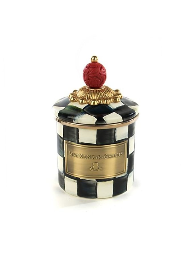 Courtly Check Enamel Canister-Mini