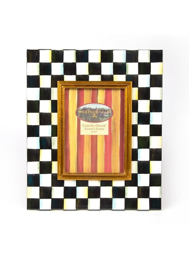 Courtly Check Enamel Frame 5X7