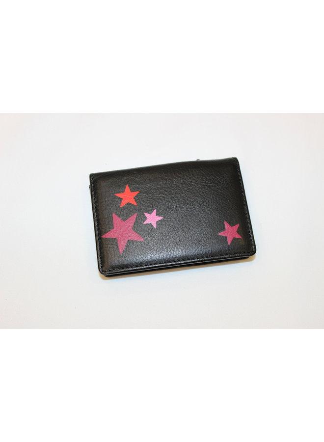 Lauren Schneider Bobbi Wallet Black with Stars