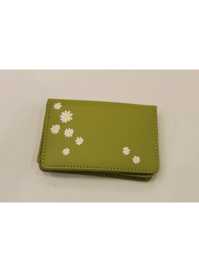 Lauren Schneider Bobbi Wallet Green Daises