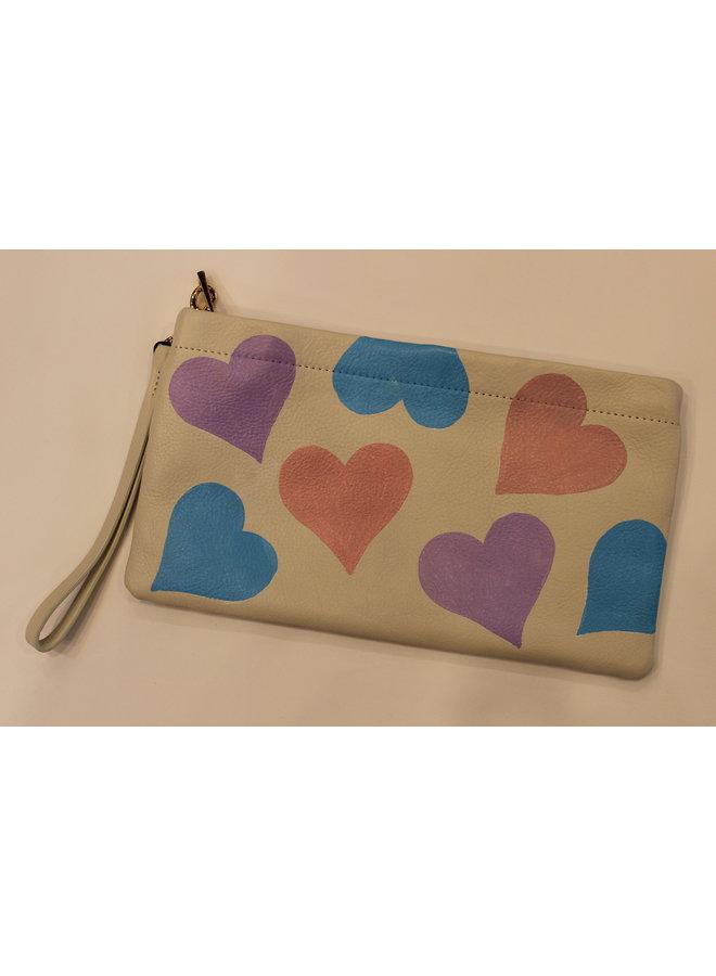 Lauren Schneider Bree Clutch Pastel Hearts