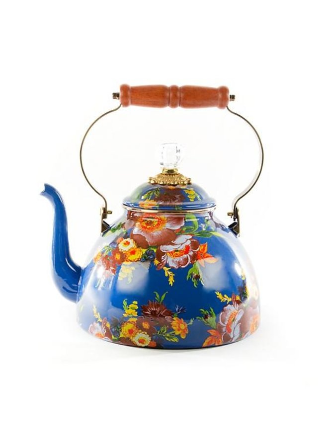 Flower Market Tea Kettle - 3 Quart - Lapis
