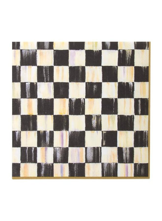 Courtly Check Paper Napkins-Dinner
