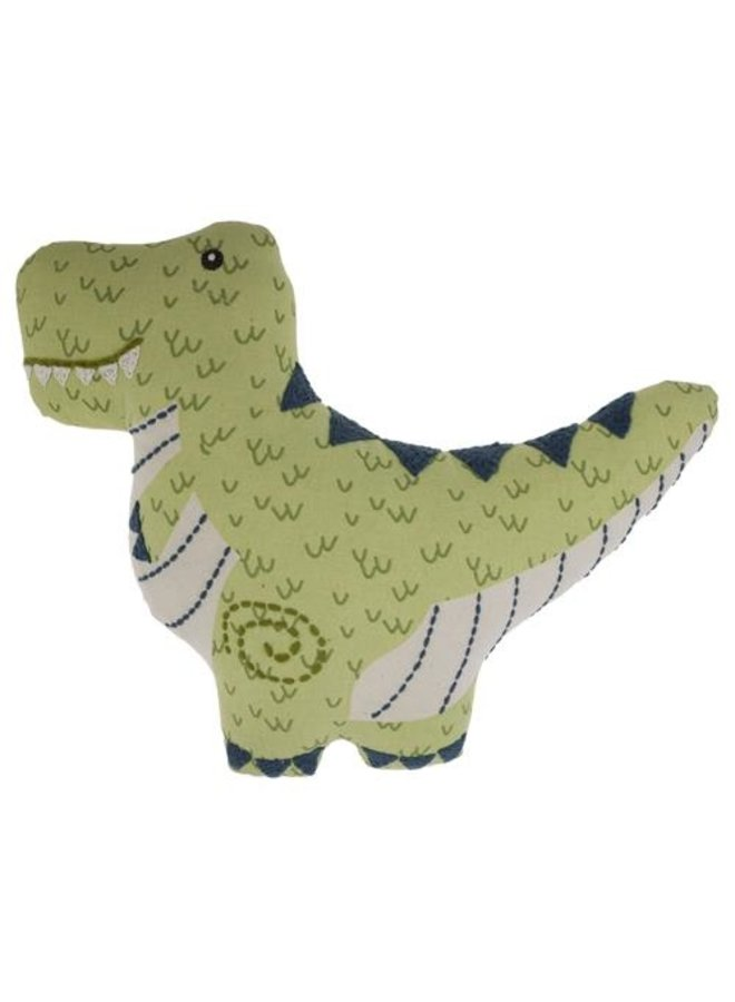 Embroidered Pillow - Dino