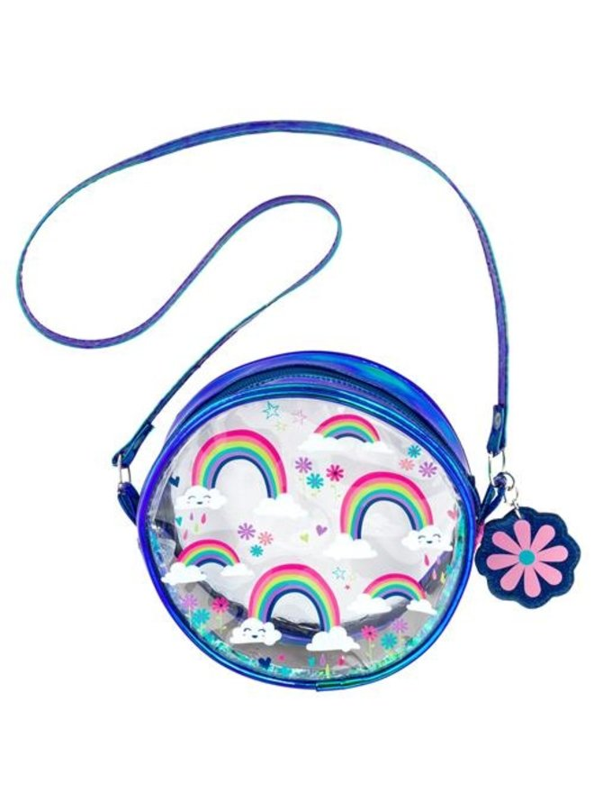 Clear Iridescent Crossbody-Rainbow