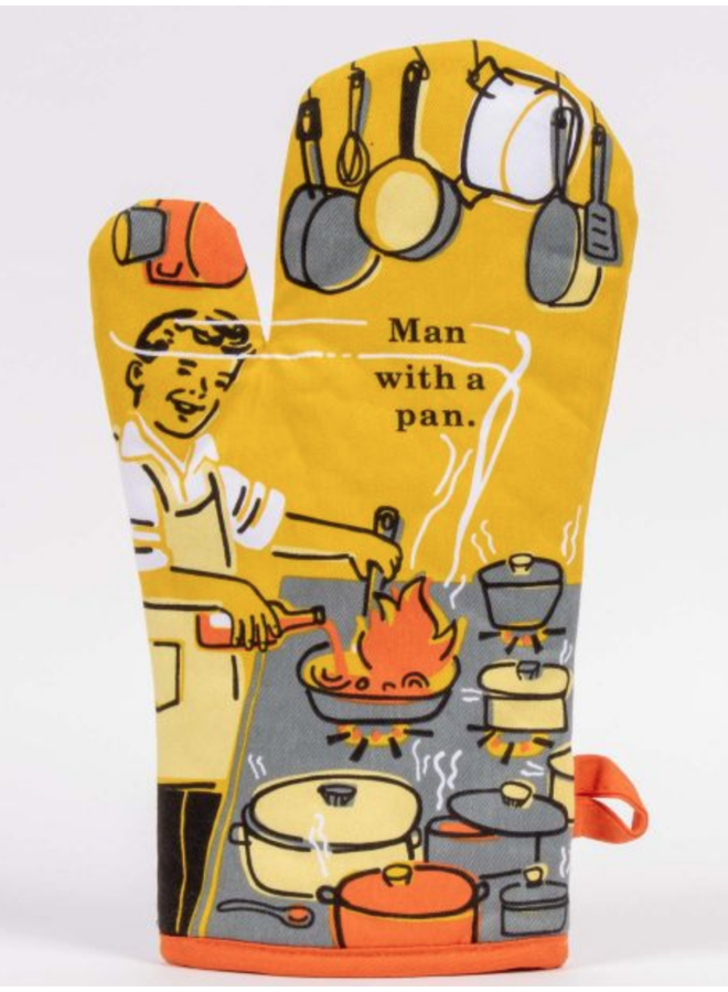 Man With A Pan Oven Mitt