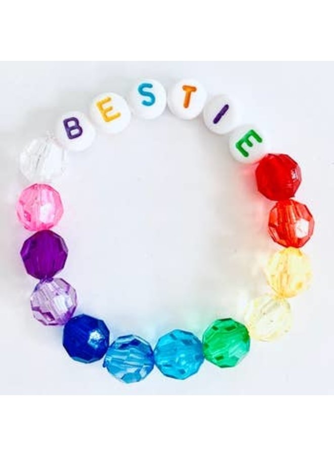 Bestie Rainbow Beaded Bracelet