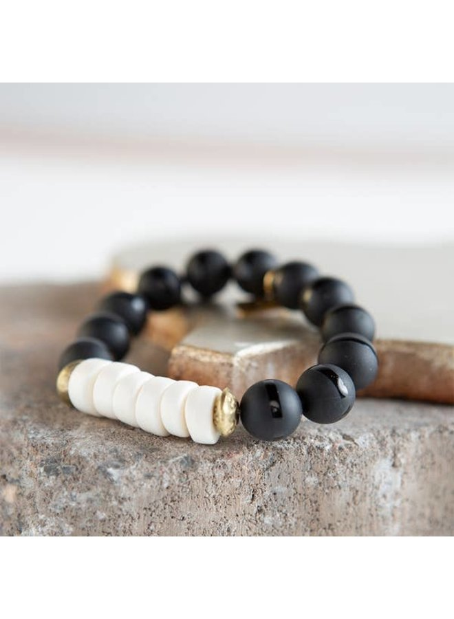Harmony Stretch Bracelet - Black/White