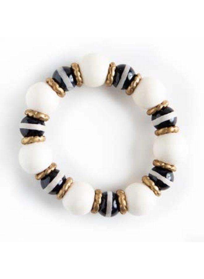 Harmony Black Stripe Stretch Bracelet - Large