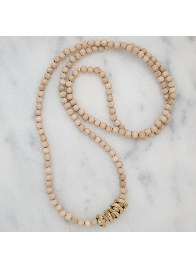 Golden Rings Layering Necklace- Sand