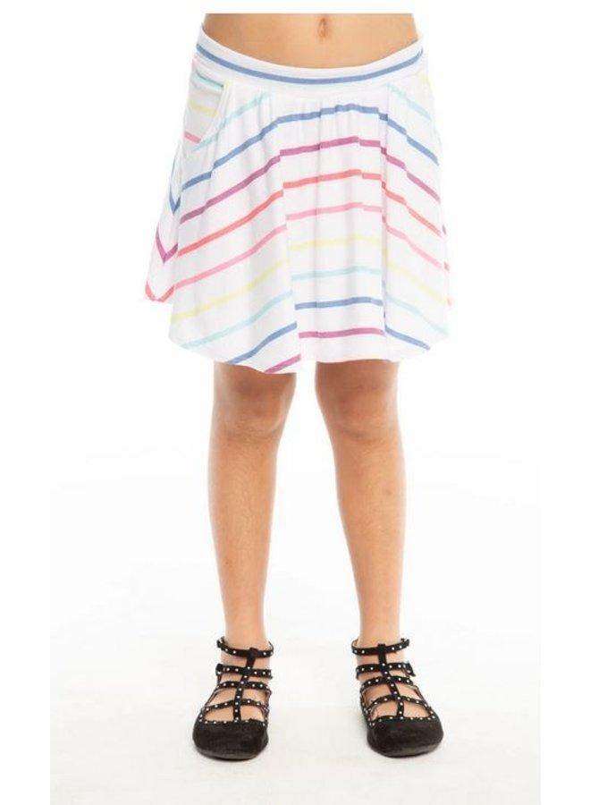 Flounce Stripe Skort
