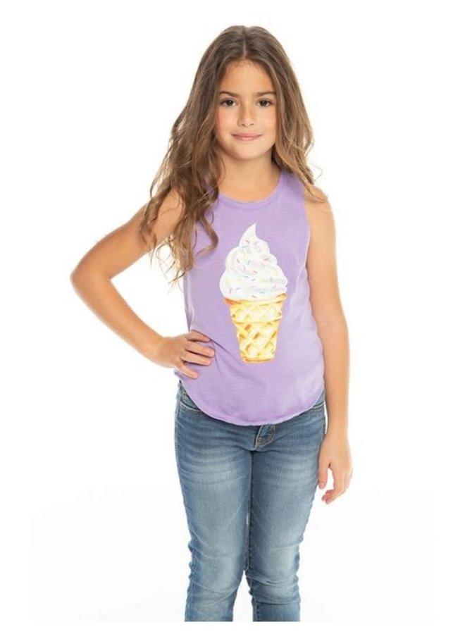Ice Cream Cone Short Sleeve Top