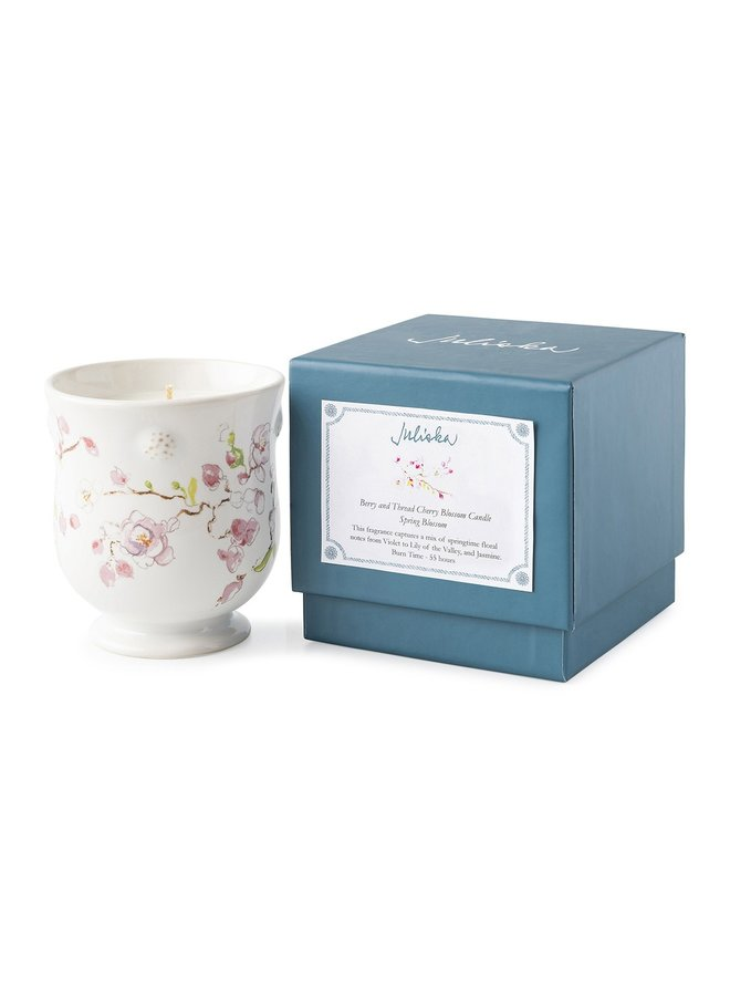Berry & Thread Floral Sketch Cherry Blossom Candle