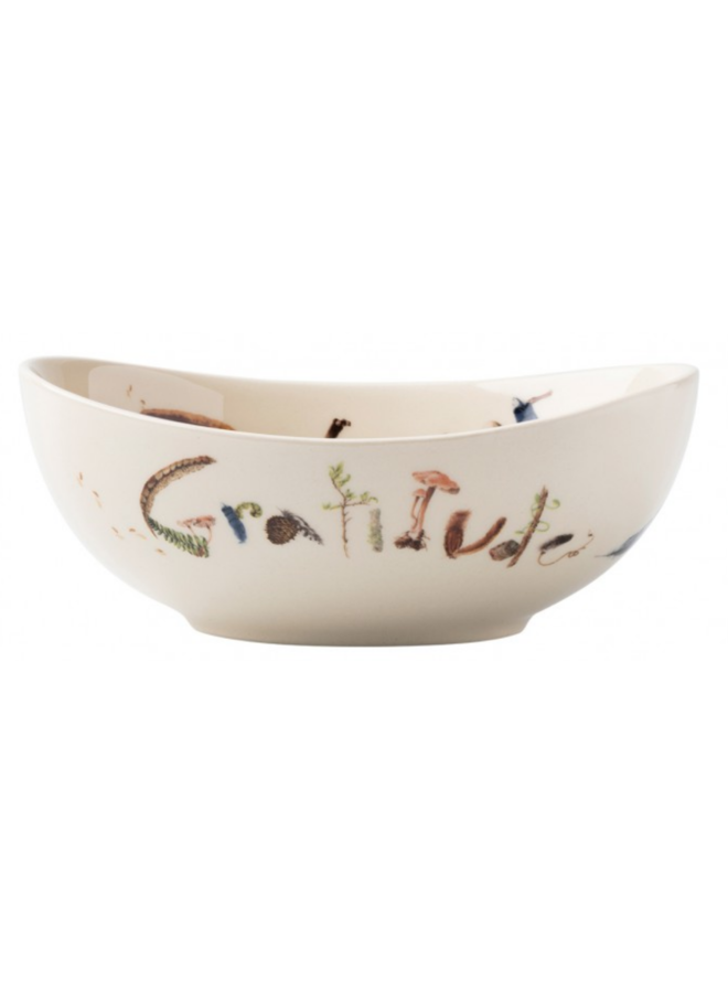 """Forest Walk Oval 7"""" """"Love and Gratitude"""" Bowl"""