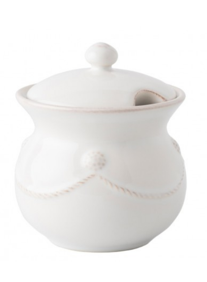 Berry & Thread Whitewash Lidded Sugar Pot