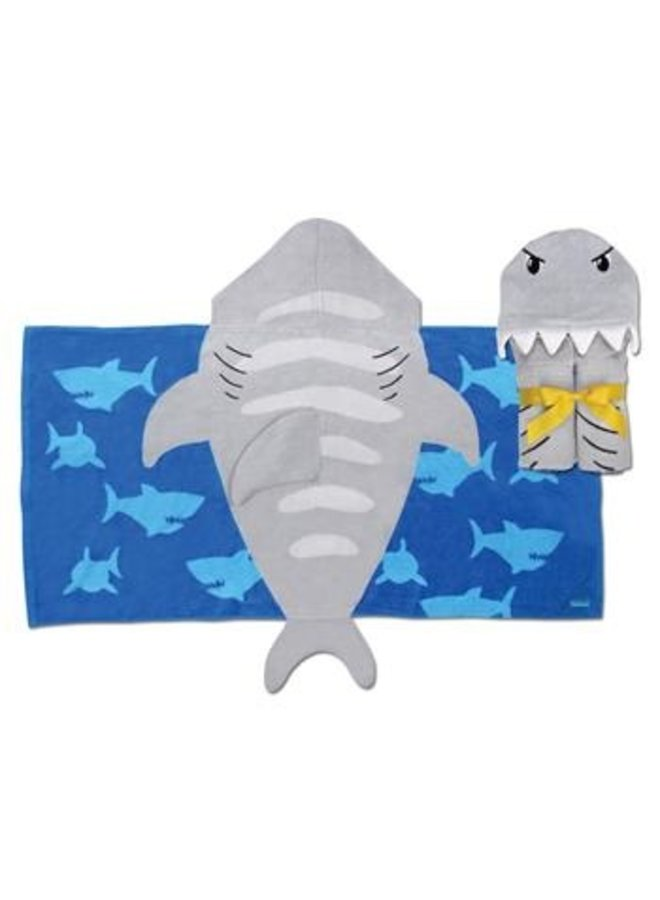Hooded Towel - Shark