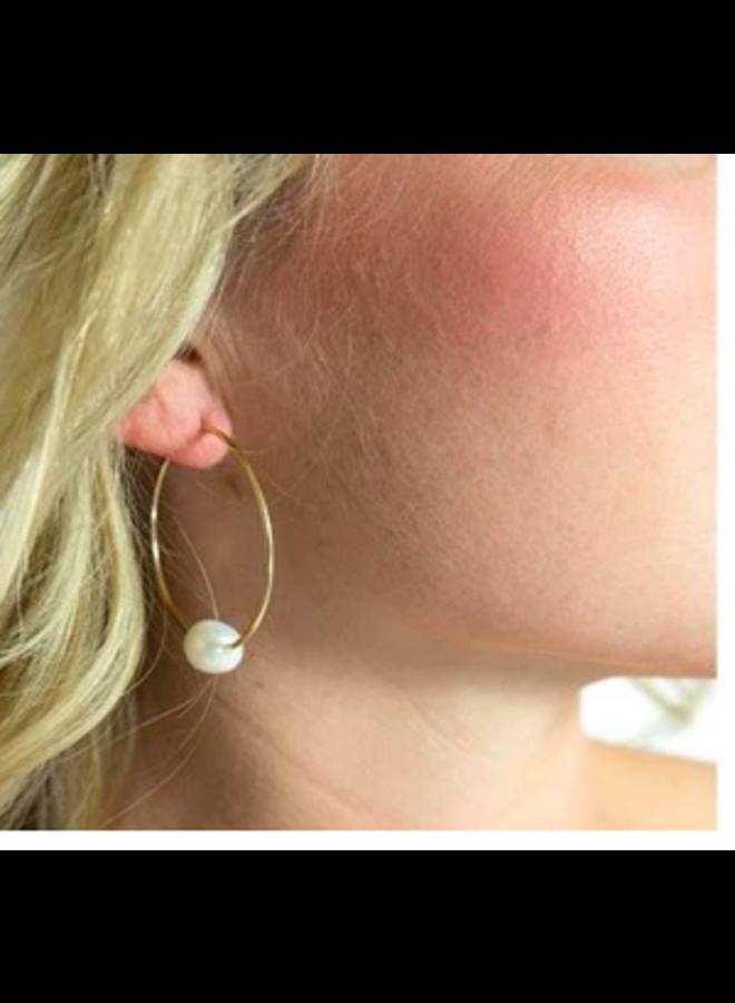 Freshwater PEarl Hoop Earrings