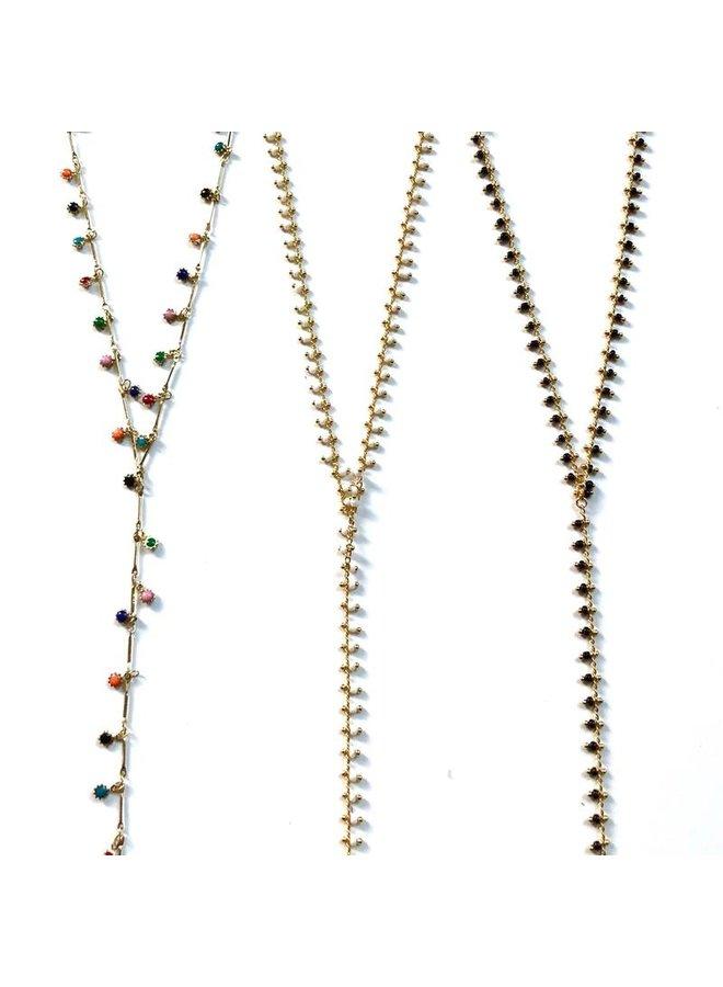 Mini Beaded Larait Necklace- Fiesta