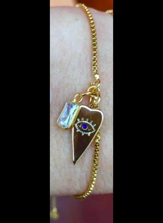 Krissy Eye Heart Gold Slider