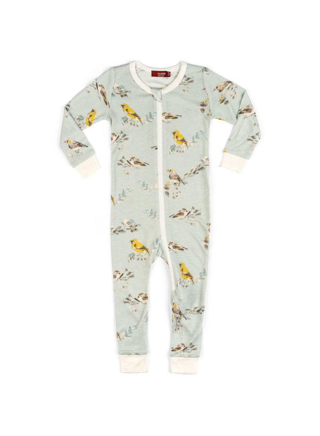 Bamboo Zipper Pajama -