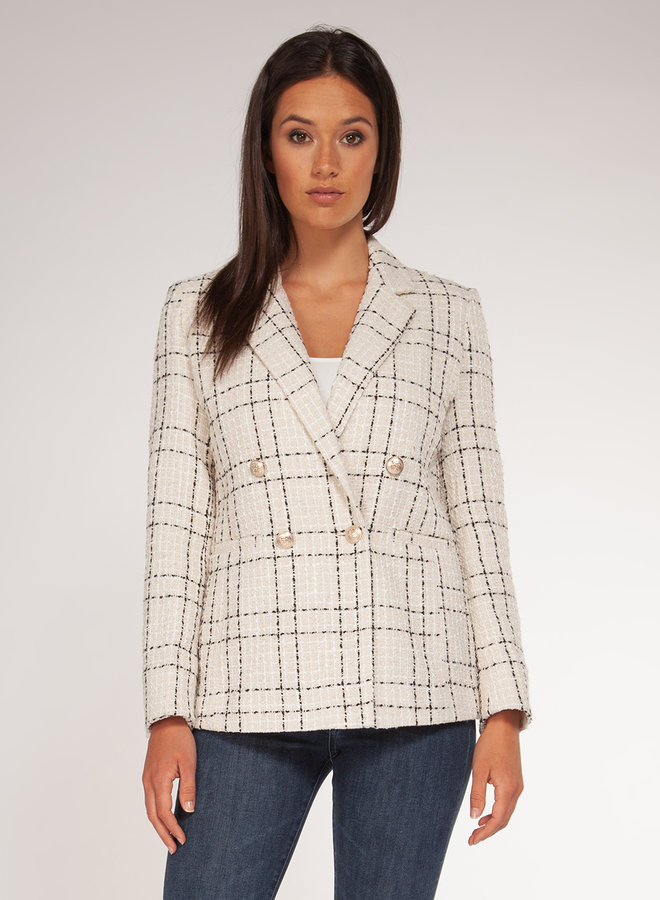 Check Tweed Blazer