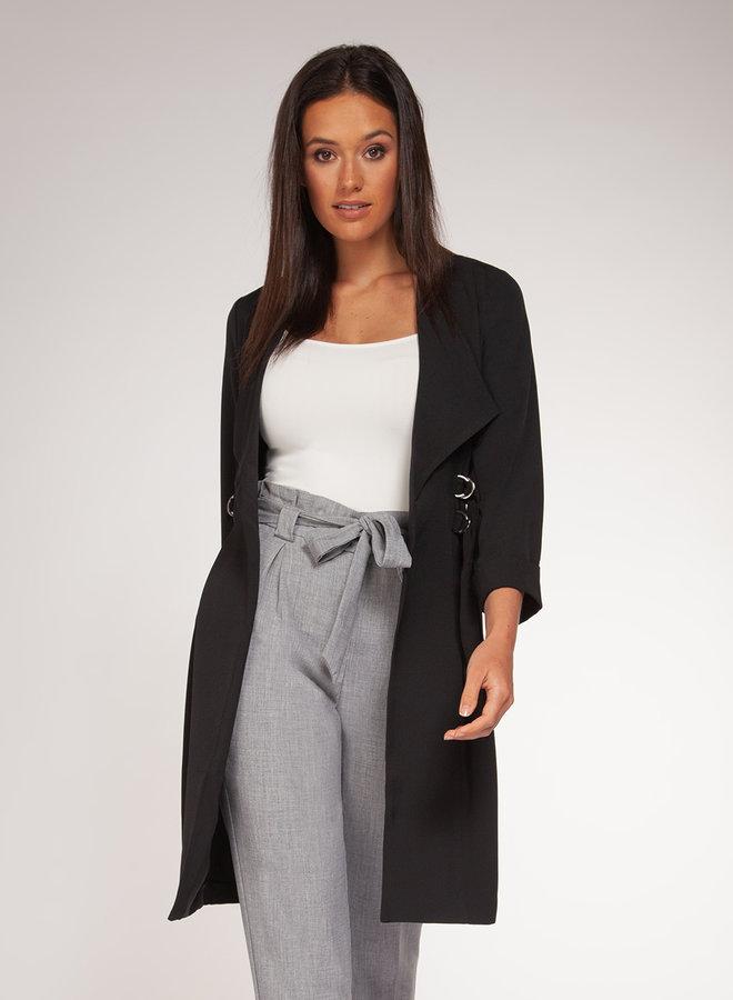 Drape Coat-Black