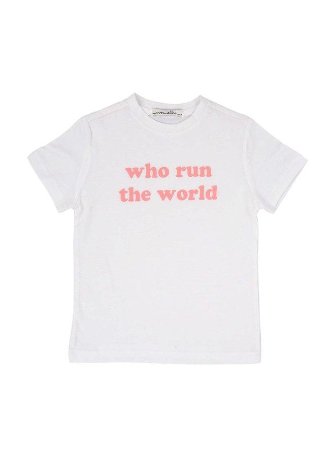 """""""who run the world"""" Kid's Tee - 4T"""