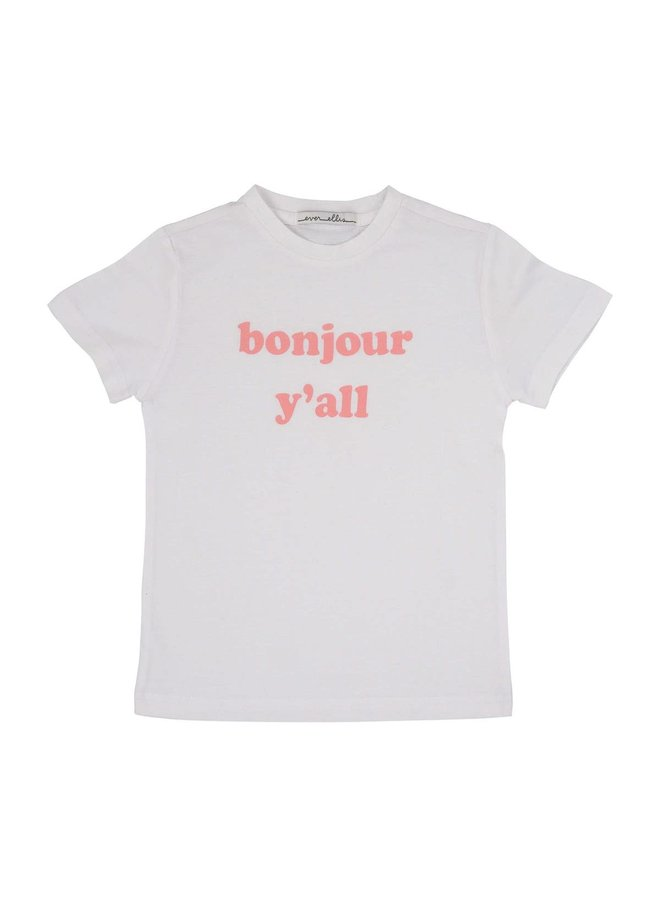 """bonjour y'all"" Kid's Tee - 4T"